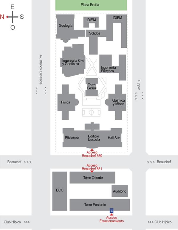 Mapa FCFM